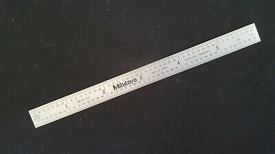 Mitutoyo 182-203 6 in Tempered Stainless Steel Rule.  Made in Japan