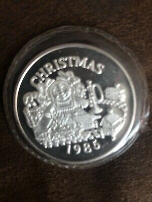 1985 Mint 1 Oz Christmas For Someone Special Bullion .999 Fine Silver Round Coin