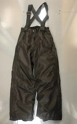 Ski salopettes trousers snowboarding Age 7-8 Crane Black Gators Winter Warm Boys