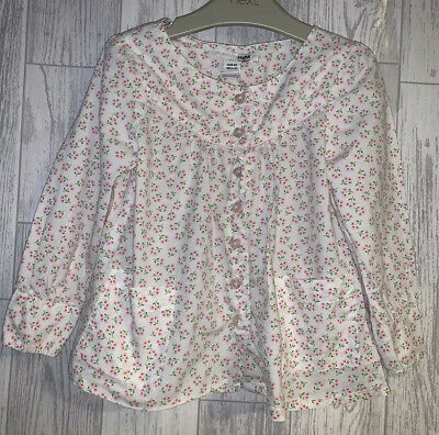 Girls Age 2-3 Years - H&M Floral Shirt Top