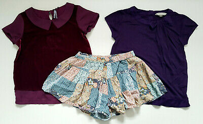 Next Jigsaw Set Of 3 Girl Blouse Top Shorts 6-7 Years 116-122cm
