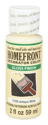 Homefront  Gloss  Antique White  Hobby Paint  2 Oz. Pack Of 3