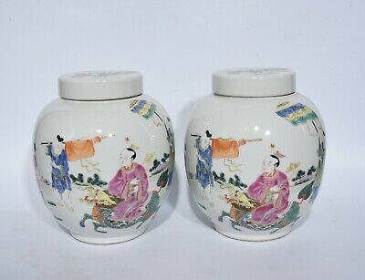 Chinese Exquisite Handmade porcelain pot A Pair