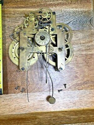 Old  Seth Thomas 30 Hour Clock Movement (Untested/Springs Good) (Lot K1158)