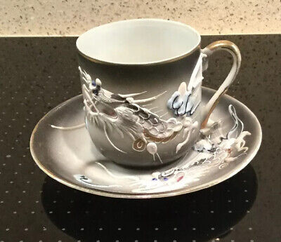 Chinese Cup And Saucer Dragon