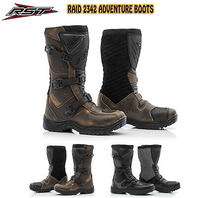 RST Raid Leather Motorcycle Waterproof Boots CE Approved 2020