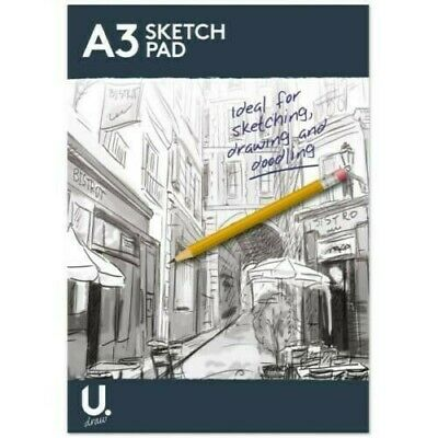 A3 A4 Sketch Pad Book White Paper Artist Sketching Drawing Doodling Art Craft