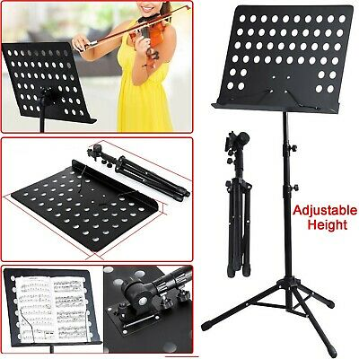 Heavy Duty Music Stand Metal Foldable Holder Tripod Orchestral Conductor Sheet