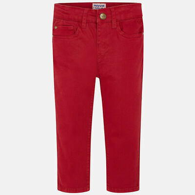 Mayoral Boys Red Regular Fit Trousers - 5 Years