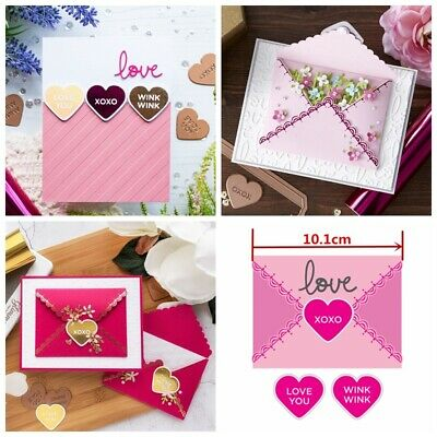 Lace Envelope Heart Hot Foil Plate Metal Cutting Dies for DIY Wedding Invitation