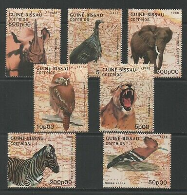Thematic Stamps Animals - GUINEA BISSAU 1988 ANIMALS OWL 1029/35 7v mint