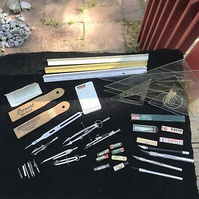 Vintage Lot Drafting Tools Accessories Protractor