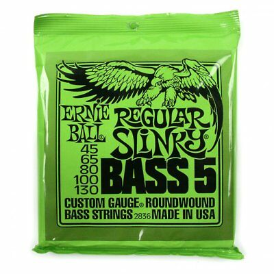 Ernie Ball 2836 Regular Slinky 5-String Bass Guitar Strings 2836 45-130