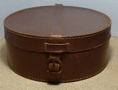 Antique Leather Collar Box