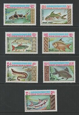 Thematic Stamps Animals - KAMPUCHEA 1983 FISH 7v 481/7 mint