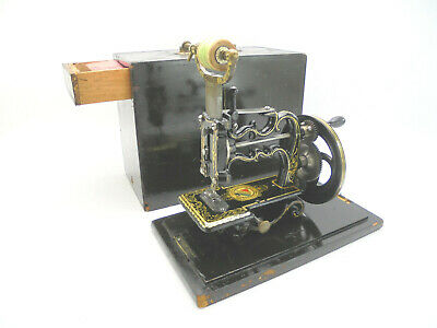Antique J.G. Weir 55/- Chainstitch Sewing Machine c1870, Original Case & Tools