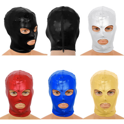 Unisex Latex Masks Open Eyes Mouth Headgear Full Face Mask Hood Cosplay Costumes