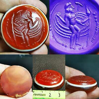 Antique Carnelian Intaglio Stone Beautiful Sassanian Seal Stamp  # 100