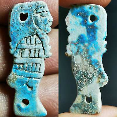 Faience Ancient Wonderful Rare Unique Amulet    # 100