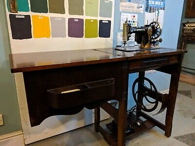 Vintage Jones Sewing Machine and Table - converted to electric - craft