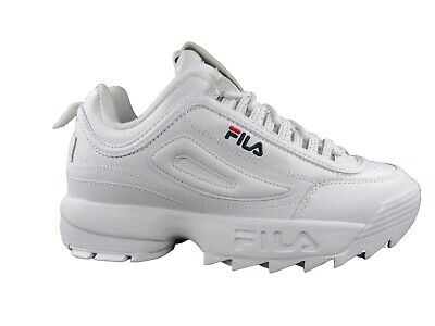 Fila MENS Disruptor 2 II Premium Casual Fashion Shoes White/Navy/Red 1FM00139