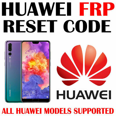 HUAWEI FRP KEY CODE BY IMEI UNLOCK GOOGLE ACCOUNT ALL Models