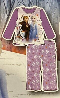 NEW GIRLS 4T DISNEY FROZEN II 2-PC FLANNEL SLEEPWEAR SET PAJAMAS NWT purple
