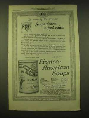 1918 Franco-American Soups Ad - The soup of the epicure soups richest in food