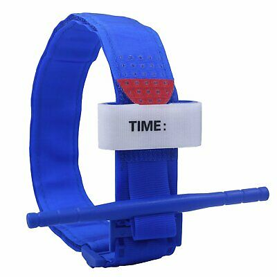 First Aid Emergency Medical Tourniquet Buckle Quick Slow Release Strap Blue