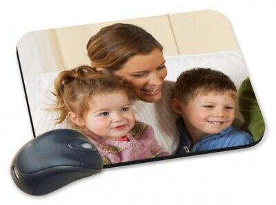 Personalised Mouse Mat Pad for Computer - Any Photo, Text, Logo, Soft Fabric.
