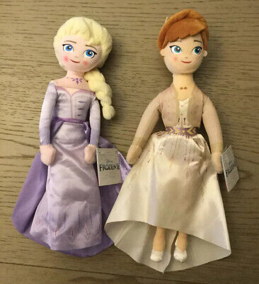 """Frozen II Disney Elsa and Anna 11"""" plush Doll Set w/ tags,brand new,never used"""