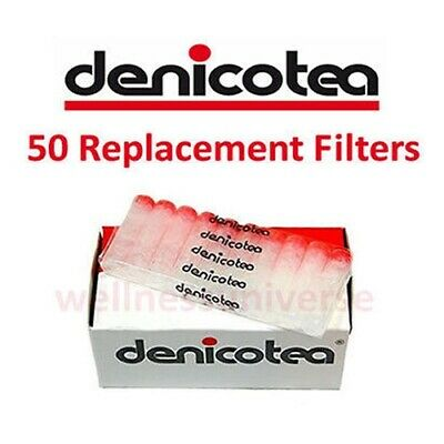 50 Denicotea Replacement Cigarette Filters for Holders - D10106