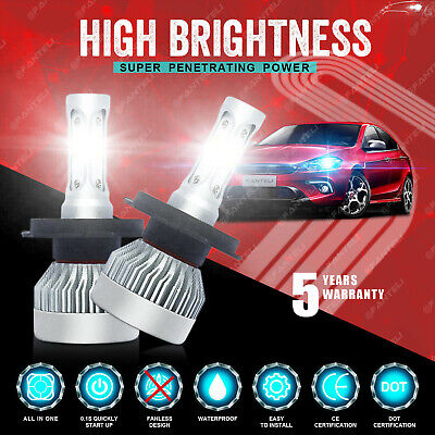 H4 9003 1710W 256500LM 3-Sided CREE LED Conversion Headlight Hi/Lo Beam 6K Pair