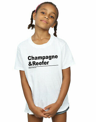 Muddy Waters Girls Champagne And Reefer Slogan T-Shirt