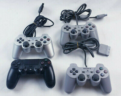 4x Official Sony PlayStation Ps1 PS2 Ps4 Controller DualShock Working