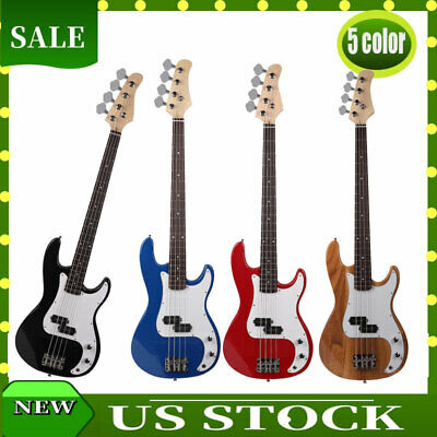 "34"" Exquisite Burning Fire Style Electric Bass Guitar 4 String  5 Color Music"