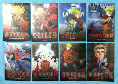 Complete Collection of Limited Chromium Variant Trigun DVD-Case Covers ALL EIGHT