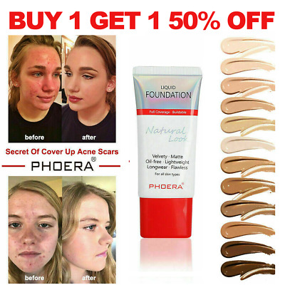 Phoera Long Lasting Flawless Velvety Stay Matte Liquid Foundation Oil Control Uk