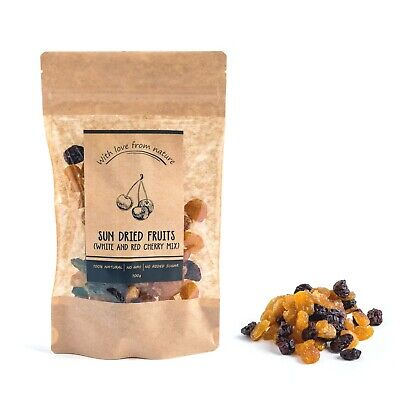 🍒 100% Natural Sun Dried Fruit - White & Red Cherry - With Love From Nature