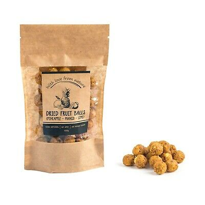 100% Natural Dried Fruit Balls - Pineapple - Mango - Lime -With Love From Nature