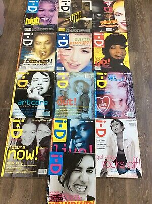 I-D Magazine Job Lot 13 Magazines 1990-1994 Excellent Condition
