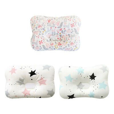 Baby Infant Newborn Prevent Flat Head Neck Syndrome Support Square Pillow AU