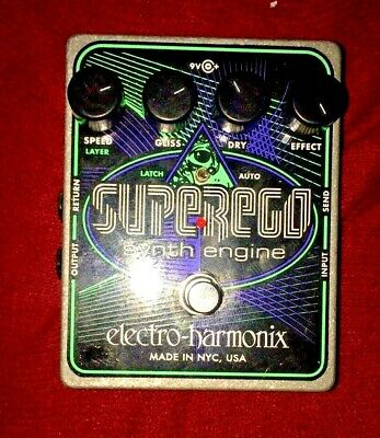 Electro-Harmonix EHX Superego Polyphonic Synth Engine Guitar Effect Pedal (mint)