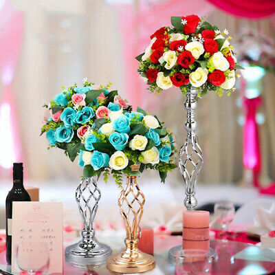 FM_ Metal Candle Holders Flower Vase Rack Stick Wedding Home Party Candle Stand