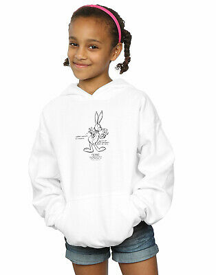 Looney Tunes Girls Bugs Bunny White Belly Hoodie