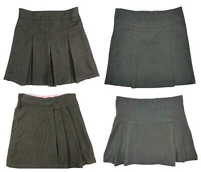 Girls Grey School Skirts Ages 3 Years up 9 Years Various Styles Top Makes