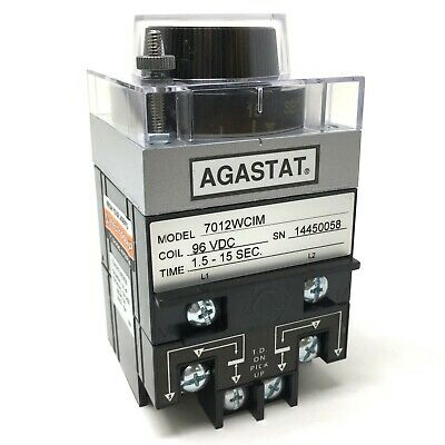 Timing Relay 7012WCIM TYCO AGASTAT 96VDC 1.5-15sec