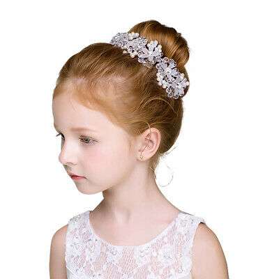 Girls Simulated Pearl Headband Headdress Hair Ornaments Wedding Party Headpiece