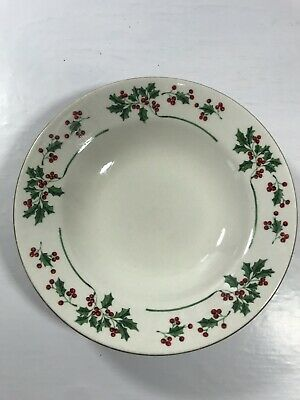 Gibson Christmas Everyday Housewares Holly Berry Porcelain Soup Bowl 1pc Kitchen