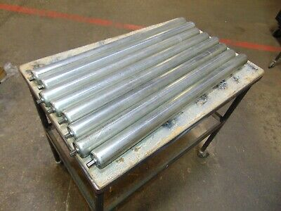 """Lot of 8 Replacement Gravity Roller Conveyors Rollers 29"""""""